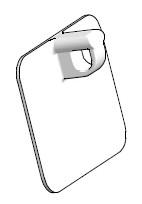 Guidacorda a cucire per tende a pacchetto con velcro a facile manutenzione